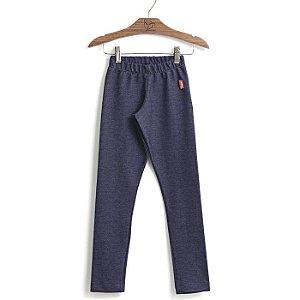 Calça infantil feminina Jokempô legging azul denim