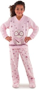 Pijama infantil feminino Dedeka coruja floco de neve
