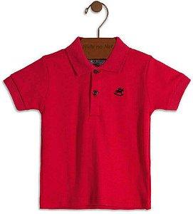 Camiseta polo infantil Up Baby em suedine  vermelha