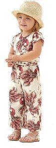 Macacão infantil Menina Up Baby pavão rosa -