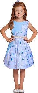 Vestido infantil Ninali Infantil Pérolas Grécia Óia