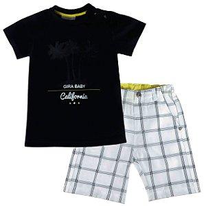Conjunto infantil Gira Baby Camiseta California + bermuda