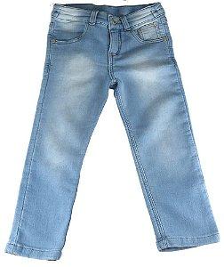Calça infantil masculino Oliver moletom Jeans Fleece Demin