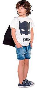 Camiseta infantil masculino Que te encante off white BaTBoY