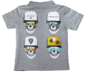 Camiseta Infantil Menino Mini US Polo Skull Vibres