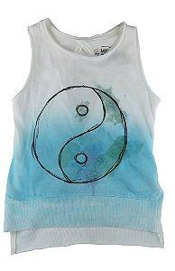 Camiseta Regata infantil feminina Mini US Infantil Ying Yang