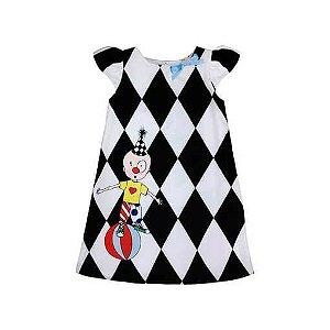 Vestido Infantil Té Roupa de Criança Trapézio Palhaço