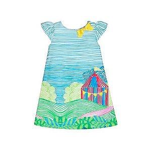 Vestido Infantil  Té Roupa de Criança pintando o circo