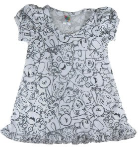 Camisola infantil Win Design de pintar Monstrinhos