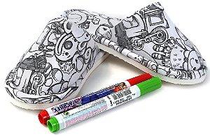 Pantufa infantil Win Design Pintar Brinquedo + 2Canetinhas