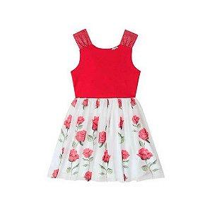 Vestido Infantil Infanti Rosas vermelhas