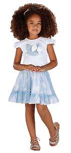 Conjunto infantil feminino Infanti Gatinha azul -