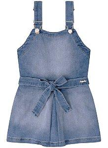 Jardineira infantil feminina Infanti Jeans Salopete