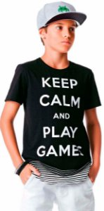 Camiseta Infantil Johnny Fox Longer Keep Calm and Play Games