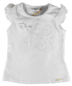 Blusa infantil Menina Infanti pomba branca cotton