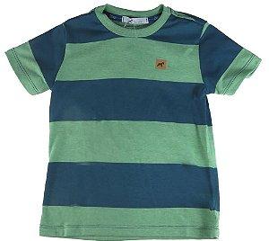 Camiseta infantil Menino Oliver Navy tricolor -