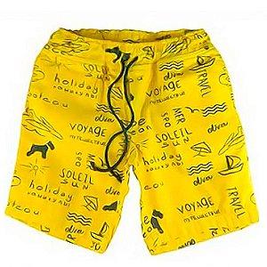 Bermuda de Menino Oliver algodão infantil amarelo Ibiza