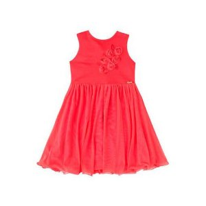 Vestido infantil  Infanti vermelho rosas -