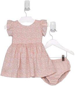 Vestido Bebê Menina Que te encante rose florido