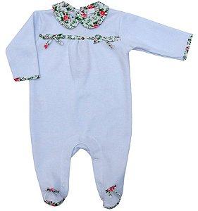 Macacão Bebê Menina Empório Baby detalhes florido