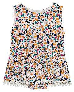 Vestido Bebê Menina Que te encante harmonia tucanos