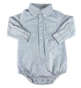 Body Bebê Menino Empório Baby cinza duke