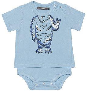 Body Bebê Menino Que te encante camiseta monstrinho