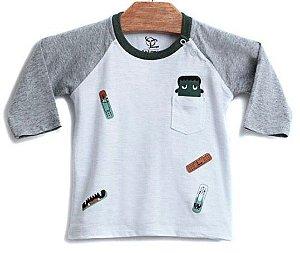 Camiseta Bebê Menino Jokenpô band aid frankenstein