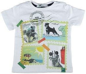 Camiseta Bebê Menino Oliver selos