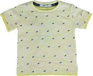 Camiseta Bebê Menino Oliver malha flamê amarela