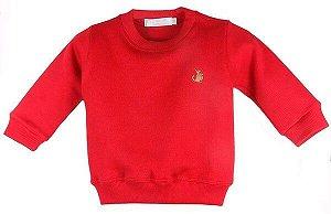 Suéter Infantil Bebê Menino Empório Baby Vermelha