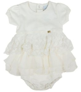 Body Bebê Menina Baby Fashion vestido chifon