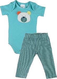 Conjunto bebê menino Baby Fashion urso marine