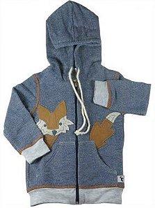 Jaqueta Bebê Menino Oliver moletom bebê azul marinho raposa