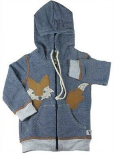 Jaqueta infantil Menino Olivermoletom azul marinho raposa