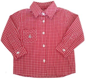 camisa infantil masculino Empório baby xadrez  vermelha