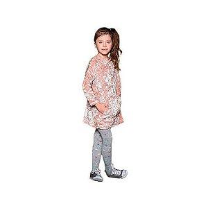 Vestido infantil  Que te encante veludo rose floc