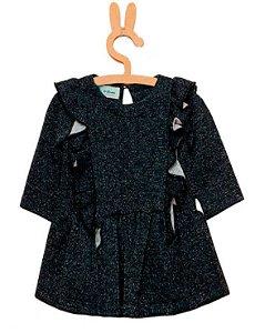 vestido infantil Menina Que te encantemoletom flanar preto