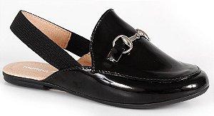Sapato social infantil mocassim mule preto
