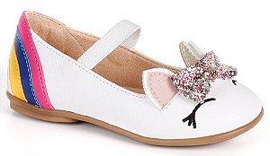 Sapato infantil feminino unicórnio
