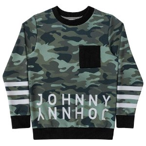 Blusa Infantil Menino Johnny Fox Neoprene Listrada Militar