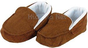 sapatinho Bebê Baby Cake macio mocassim caramelo - HANDMADE
