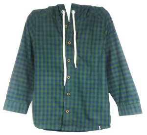 Camisa infantil masculino Bugbee Xadrez Verde