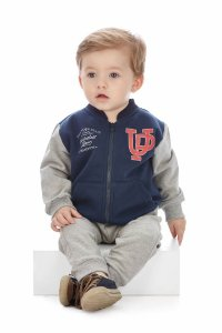 Conjunto infantil Up Baby Moletom Flanelado Basketball Team