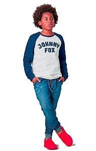 Conjunto infantil Johnny Fox Moletom Flanelado Imita Jeans