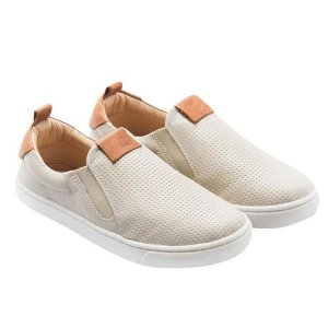 Tênis infantil Gambo slip-on off white