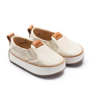 Tênis infantil Gambo slip on off white mini