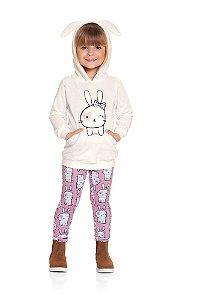 Conjunto infantil Ninali casaco legging Coelhinha Mini