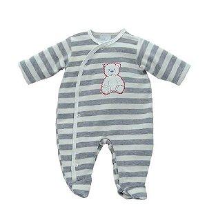 Macacão Bebê Menino Baby fashion bebê de plush listra urso