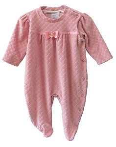 Macacão bebê menina Baby fashion bebê de plush rose escamas